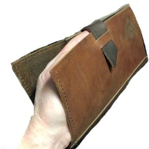 Other - Distressed Rustic Leather Billfold/Doc Holder